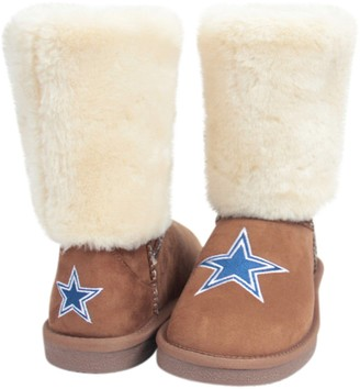 Unbranded Women's Cuce Tan Dallas Cowboys Fan Boot