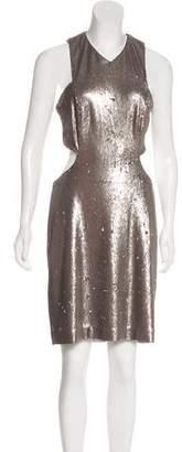 Halston Sequin Cutout Dress w/ Tags