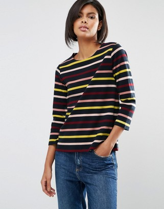 Whistles Multi Stripe Long Sleeve T Shirt $98 thestylecure.com
