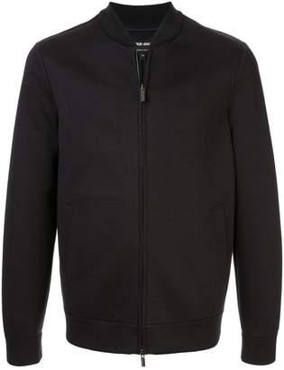 Giorgio Armani jersey bomber jacket