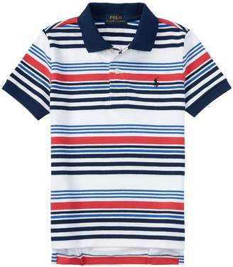 Ralph Lauren Polo Boy's Pique Polo Shirt White L