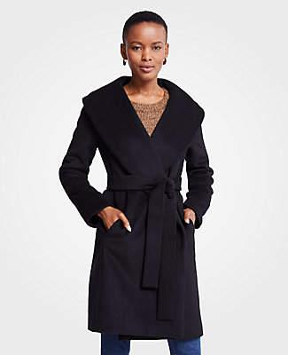Ann Taylor Tall Shawl Collar Wrap Coat