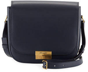 0966e2429a9 Saint Laurent Medium Calfskin Leather Flap Crossbody Bag with Logo Lock