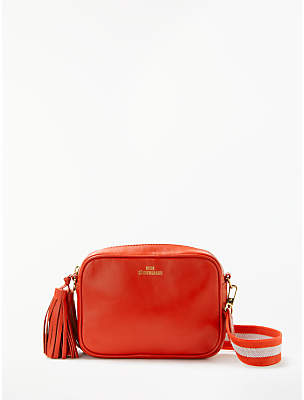 Becksöndergaard Lullo Rua Leather Cross Body Bag, Flame Scarlet