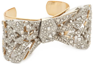 Alexis Bittar Crystal Mosaic Lace Bow Cuff Bracelet $395 thestylecure.com