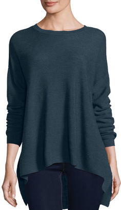 Eileen Fisher Long-Sleeve Merino Links Top $238 thestylecure.com