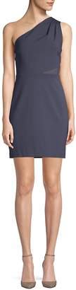 Halston Women's Mesh-Paneled Sheath Dress