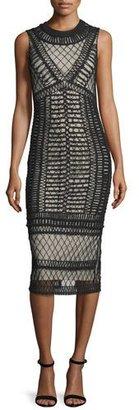Alice + Olivia Nat Crocheted Sleeveless Midi Dress $695 thestylecure.com