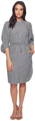 Lauren Ralph Lauren Gingham Cotton Shirtdress Women's Dress
