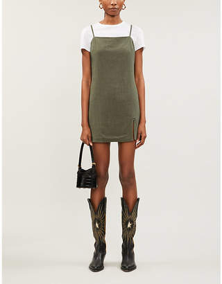 PACSUN Straight-neck woven mini shift dress