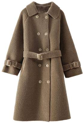 Goodnight Macaroon 'Devon' Fleece Double Breasted Military Coat (2 Colors)