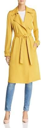 Theory Oaklane Silk Trench Coat
