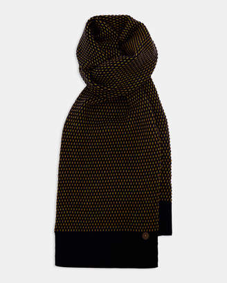 Ted Baker CANSCAF Patterned knitted scarf