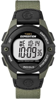 Timex Men's Expedition Full-Size Digital CAT Black/Green Watch, Nylon Strap