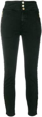 Just Cavalli eyelet detail skinny trousers