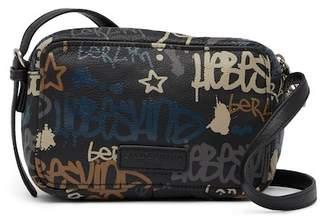 Liebeskind Berlin Pelham Graffiti Print Leather Crossbody Bag