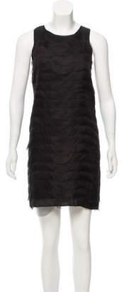 Fendi Petal-Tiered Chiffon Dress w/ Tags