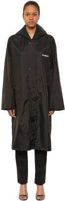 Vetements Copyright Long Nylon Blend Raincoat