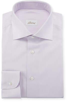 Brioni Men's Solid Cotton/Silk Dress Shirt