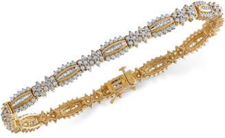 Macy's Diamond Link Bracelet (3 ct. t.w.) in 14k Gold, Created for