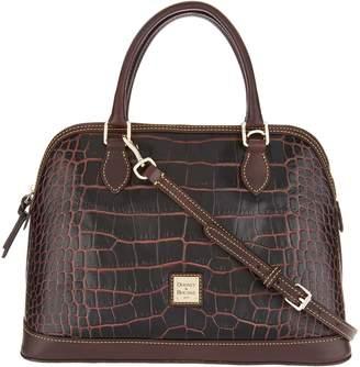 Dooney & Bourke Croco Leather Deana Satchel Handbag