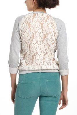 Bordeaux Astern Lace Sweatshirt