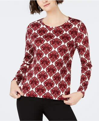 Charter Club Cotton Printed T-Shirt