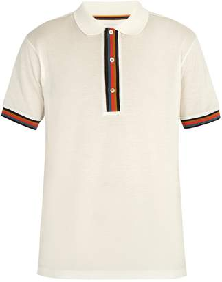 Paul Smith Striped-placket cotton polo shirt