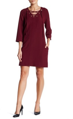 Kensie Lace Up Tunic Dress $88 thestylecure.com