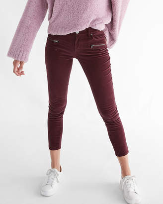 Express Mid Rise Corduroy Zip Pocket Ankle Leggings