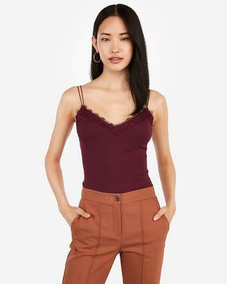Express Lace Trim Strappy Cami