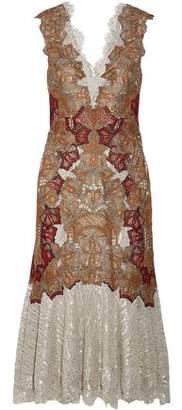 Jonathan Simkhai Crochet And Lace-Paneled Midi Dress