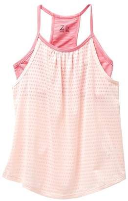Zella Z By Spacedye Double Layer Tank Top (Big Girls)