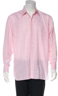 Tom Ford Plaid French Cuff Shirt