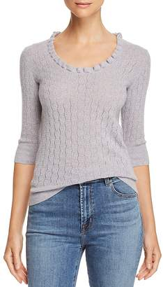 Rebecca Taylor Pointelle Scoop-Neck Sweater