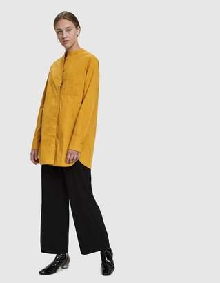 Mijeong Park Patch Pocket Cotton Shirt in Mustard