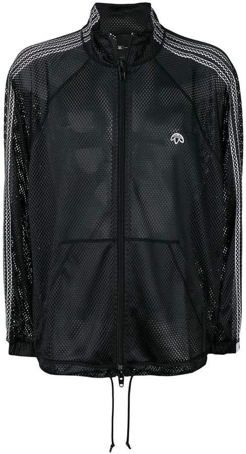 Adidas Originals By Alexander Wang Netz-Sportjacke mit Reißverschluss