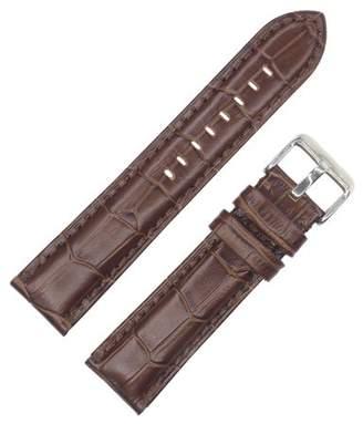 Dakota 22mm Full Pad Croc Grain Geniune Leather Dark Brown
