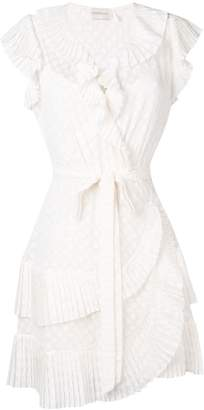 Zimmermann Plisse mini wrap dress