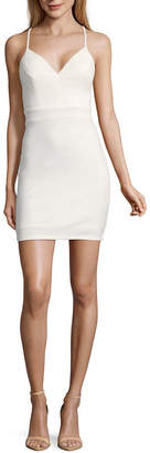 City Triangle Short Social Sleeveless Bodycon Dress-Juniors