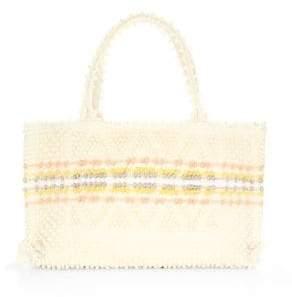 Antonello Tedde Medium Signature Rombi DIamond Knit Tote Bag