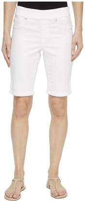 Tribal 10 Knit Denim Pull-On Shorts with Leg Detail in White Women's Shorts