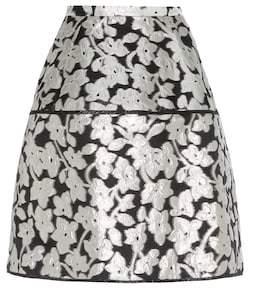 Oscar de la Renta Metallic jacquard skirt