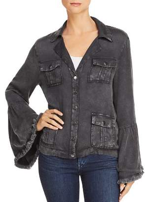 Chaser Frayed Bell Sleeve Jacket