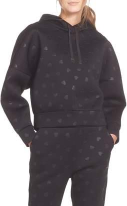 Kate Spade heart embossed hoodie