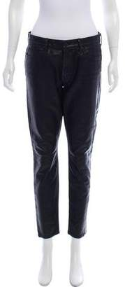 Mother Mid-Rise Vegan Leather Pants