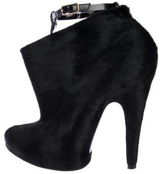 Givenchy Ponyhair Pointed-Toe Ankle Boots