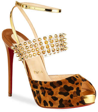 Christian Louboutin Levita Girl Spike Red Sole Pumps