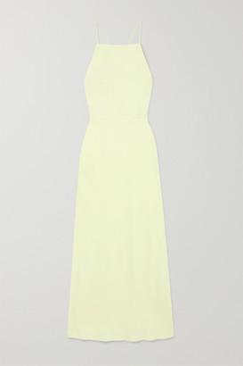 Jason Wu Collection - Open-back Satin Midi Dress - Lime green