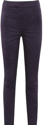 Reiss Lio - Leopard Pattern Jacquard Skinny Trousers in Navy